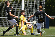 Hawke's Bay United Alex Britton makes a save in the Handa Premiership football match, Hawke's Bay v Wellington, Bluewater Stadium, Napier, Sunday, February 03, 2019. Copyright photo: Kerry Marshall / www.photosport.nz