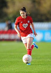 Carla Humphrey of Bristol City in action - Mandatory by-line: Nizaam Jones/JMP - 27/10/2019 - FOOTBALL - Stoke Gifford Stadium - Bristol, England - Bristol City Women v Tottenham Hotspur Women - Barclays FA Women's Super League