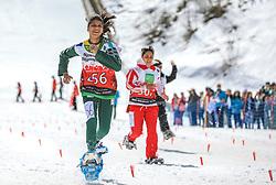 17.03.2017, Ramsau am Dachstein, AUT, Special Olympics 2017, Wintergames, Schneeschuhlauf, Divisioning 100 m, im Bild Farah Ehsan (PAK) // during the Snowshoeing Divisioning 100 m at the Special Olympics World Winter Games Austria 2017 in Ramsau am Dachstein, Austria on 2017/03/17. EXPA Pictures © 2017, PhotoCredit: EXPA / Martin Huber