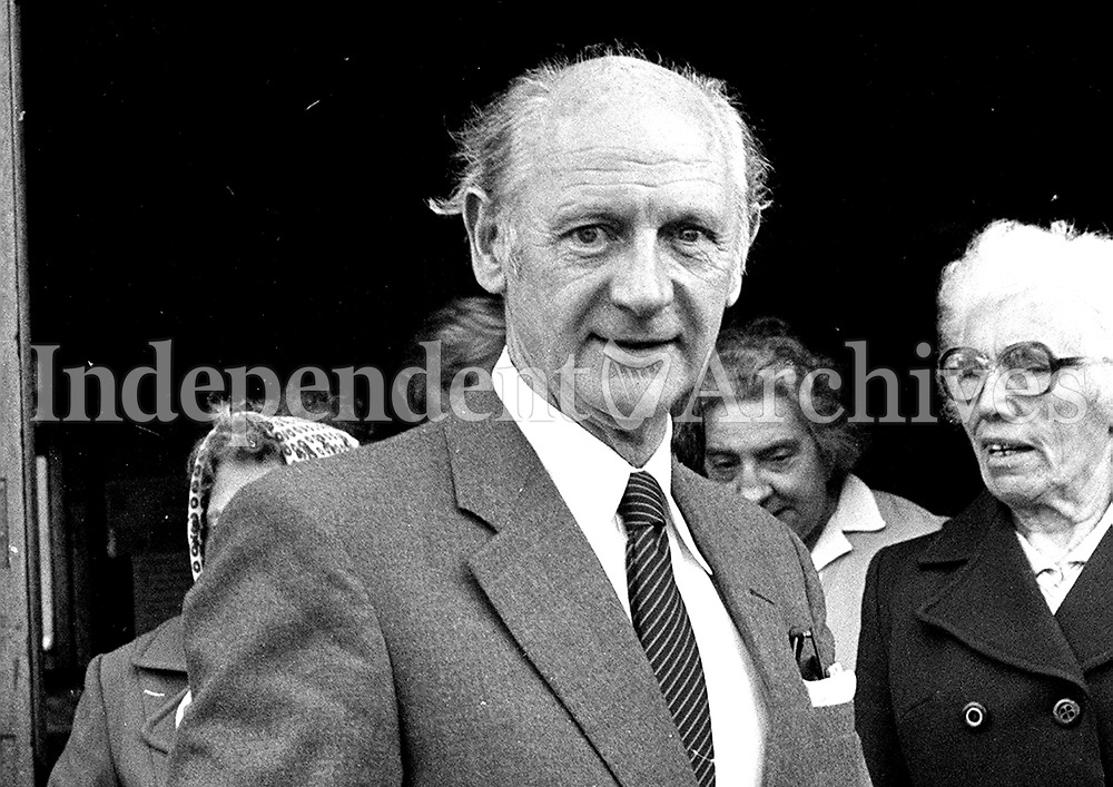 Jack Lynch at Funeral of Dr.nora Connolly-O'Brien 19 June 1981 <br />