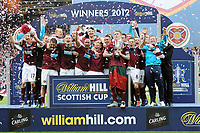 Football - Scottish FA Cup Final - Hibernian vs. Hearts<br /> The Hearts team celebrate winning the Scottish Cup Final at Hampden Park.