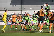Forest Green Rovers Reece Brown(10) heads the ball towards goal during the EFL Sky Bet League 2 match between Barnet and Forest Green Rovers at The Hive Stadium, London, England on 7 April 2018. Picture by Shane Healey.