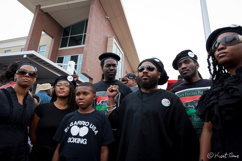 March 31, 2012 - Sanford, Florida, U.S. - Revolutionary Black Panther Party and Dr. ALLI MUHAMMAD in Sanford, Florida for the justice of Treyvon Martin.