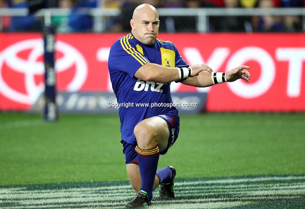 Jason Rutledge.<br /> Investec Super Rugby - Highlanders v Stormers, 7 April 2012, Forsyth Barr Stadium, Dunedin, New Zealand.<br /> Photo: Rob Jefferies / photosport.co.nz
