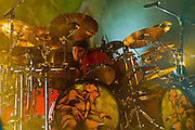 Shadows Fall, Jason Bittner, drummer in concert.