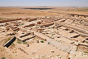 Israel, Negev, Tel Be'er Sheva believed to be the remains of the biblical town of Be'er Sheva. Living quarters
