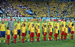 Swedish team before the UEFA EURO 2008 Group D soccer match between Sweden and Russia at Stadion Tivoli NEU, on June 18,2008, in Innsbruck, Austria. Russia won 2:0. (Photo by Vid Ponikvar / Sportal Images)