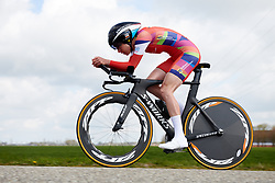 Christine Majerus (LUX) at Healthy Ageing Tour 2019 - Stage 4A, a 14.4km individual time trial starting and finishing in Winsum, Netherlands on April 13, 2019. Photo by Sean Robinson/velofocus.com