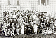 large group family portrait 1940s France