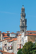 Bell tower of Clerigos Church (Church of the Clergymen) in Vitoria civil parish of Porto, Portugal