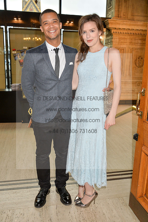 Actor JACOB ANDERSON and actress AISLING LOFTUS arriving at Swan Lake at The Royal Albert Hall, London on 2nd June 2016.