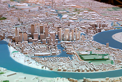 UK ENGLAND LONDON 20APR15 - Detail view of the Docklands Isle of Dogs development on the New London Architecture scale model of all built and approved buildings in London on display in The Building Centre, central London.<br /> <br /> jre/Photo by Jiri Rezac<br /> <br /> © Jiri Rezac 2015