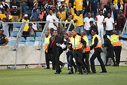 21042018 (Durban) Fans fighting on the stadium when Kaizer Chiefs takes on Free State Stars in the first Semi-Final at the Moses Mabhida Stadium On Saturday evening. FreeState let the way with a lead of 2-0 before halftime<br /> Picture: Motshwari Mofokeng/ANA