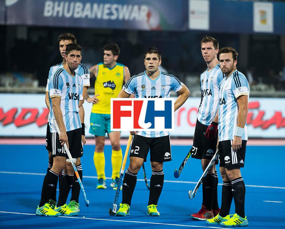 BHUBANESWAR - Gonzalo Peillat (Arg) , Ignacio Ortiz (Arg) ,   Hockey World League finals , Final Australia-Argentina (2-1) . Australia wint de finale. COPYRIGHT KOEN SUYK