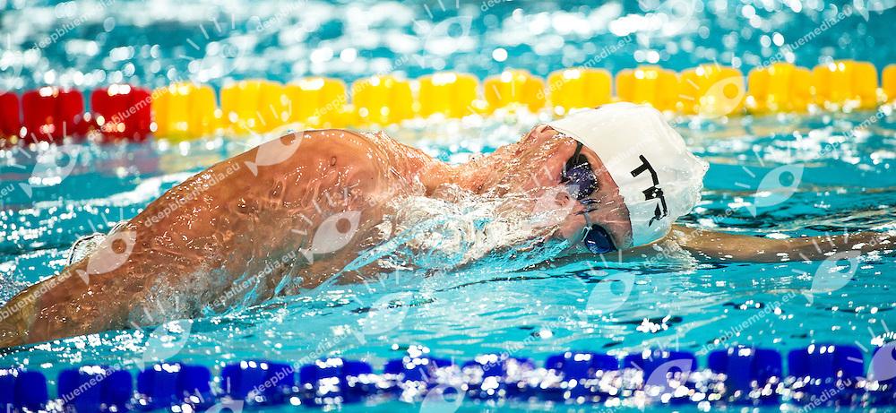 Glaesner Mads   DEN   Gold Medal.Men 1500m Freestyle Final.FINA World Short Course Swimming Championships.Istanbul Turkey 12 - 16 Dec. 2012.Day 05.Photo G.Scala/Deepbluemedia/Inside