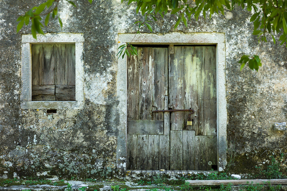 Abandoned house in ancient village of Old Perithia - Palea Perithea, Northern Corfu, , Greece