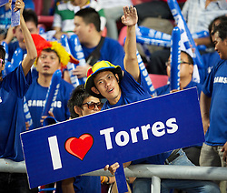 24.07.2011, Rajamangala National Stadium, Bangkok, THA, Chelsea FC Asia Tour, Thailand All Star XI vs Chelsea FC, im Bild // Chelsea supporter professes his love for Fernando Torres at the Rajamangala National Stadium in Bangkok on the club's preseason Asia Tour, EXPA Pictures © 2011, PhotoCredit: EXPA/ Propaganda/ D. Rawcliffe *** ATTENTION *** UK OUT!
