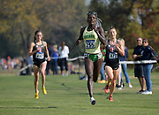 Nov 9, 2018; Sacramento, CA, USA; Susan Ejore of Oregon places third in the women's race in 19:24 during the NCAA West Regional at Haggin Oaks Golf Course.
