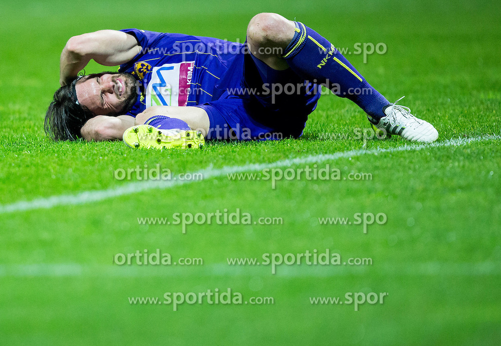 Injured Marko Suler of Maribor during football match between FC Luka Koper and NK Maribor in 30th Round of Prva liga Telekom Slovenije 2013/14, on April 26, 2014 in Stadium Bonifika, Koper, Slovenia. Photo by Vid Ponikvar / Sportida