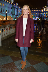 SARAH JANE MEE at Skate At Somerset House with Fortnum & Mason on 16th November 2016.