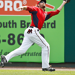 March 4, 2011; Viera, FL, USA; Washington Nationals right fielder Jayson Werth (28) makes a catch during a spring training exhibition game against the Atlanta Braves at Space Coast Stadium.  Mandatory Credit: Derick E. Hingle