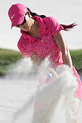 November 20, 2011: Michelle Wie hits from the green side bunker on 17 during final round golf action from the CME Group Titleholders held at The Grand Cypress Resort, Orlando, Fla.