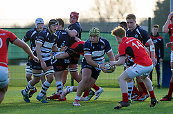 Will Capon (BGS) of Bristol Rugby Academy U18 - Mandatory by-line: Paul Knight/JMP - 21/01/2017 - RUGBY - SGS Wise Campus - Bristol, England - Bristol Academy U18 v Saracens Academy U18 - Premiership Rugby Academy U18 League