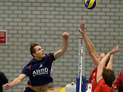 20-11-2013 VOLLEYBAL: KOOTFIN TAURUS - ARBO ROTTERDAM/FUSION: HOUTEN<br /> Taurus wint moeizaam met 3-2 van Fusion / Thom van den Heuvel<br /> &copy;2013-FotoHoogendoorn.nl