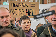 Caroline Pigeon - A rally at Richmond - led by Zac Goldsmith and attended by Gyles Brandreth, Alistair Mc Gowan and local protest groups - is followed by various protests at the airport itself led by Rising Tide and other protest groups.