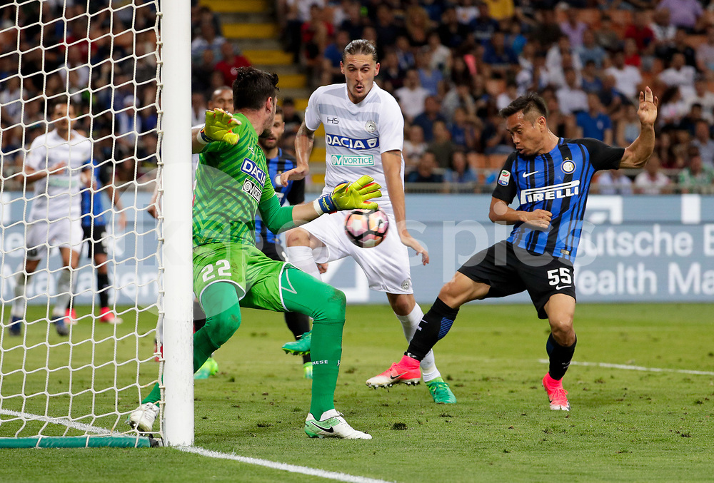 Yuto Nagatomo of Inter Milan scores goal  during the Serie A match between Inter Milan and Udinese at Stadio San Siro, Milan, Italy on 28 May 2017. Photo by Roberto Bregani.