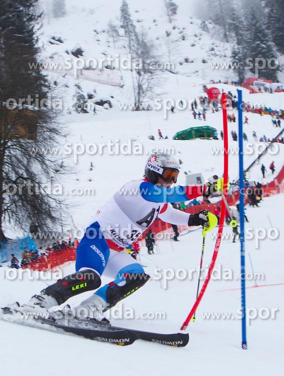 22.01.2012, Ganslernhang, Kitzbuehel, AUT, FIS Weltcup Ski Alpin, 72. Hahnenkammrennen, Herren, Slalom 1. Durchgang, im Bild Beat Feuz (SUI) // Beat Feuz of Switzerland during Slalom race 1st run of 72th Hahnenkammrace of FIS Ski Alpine World Cup at 'Ganslernhang' course in Kitzbuhel, Austria on 2012/01/22. EXPA Pictures © 2012, PhotoCredit: EXPA/ Johann Groder