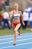 Poland, Warsaw - 2017 August 15: Iga Baumgart (BKS Bydgoszcz) of Poland competes in women's 100 meters during Memorial of Kamila Skolimowska at Stadion PGE Narodowy on August 15, 2017 in Warsaw, Poland.<br /> <br /> Mandatory credit:<br /> Photo by © Adam Nurkiewicz<br /> <br /> Adam Nurkiewicz declares that he has no rights to the image of people at the photographs of his authorship.<br /> <br /> Picture also available in RAW (NEF) or TIFF format on special request.<br /> <br /> Any editorial, commercial or promotional use requires written permission from the author of image.