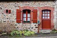 The little house with the cute door and windows, runan, Brittany, Bretagne, France
