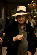 JONAS MEKAS, Serpentine Pavilion opneing event: Drinks party hosted by the American Ambassador Robert Tuttle at his residence  in Regent's Park. .  *** Local Caption *** -DO NOT ARCHIVE-© Copyright Photograph by Dafydd Jones. 248 Clapham Rd. London SW9 0PZ. Tel 0207 820 0771. www.dafjones.com.