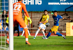 Mustafa Nukić of Bravo vs Josip Ćalušić of Celje during football match between NK Bravo and NK Celje in 13th Round of Prva liga Telekom Slovenije 2019/20, on October 5, 2019 in ZAK stadium, Ljubljana, Slovenia. Photo by Vid Ponikvar / Sportida