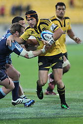 Jayden Hayward with ball in hand. Super Rugby - Hurricanes v Blues at Westpac Stadium, Wellington, New Zealand on Friday 6th May 2011. PHOTO: Grant Down / photosport.co.nz