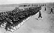 Sikh infantry on parade, part of the Indian Army, c1914.