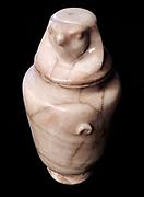 Canopic shaped urn 1st century AD Calcite alabaster.