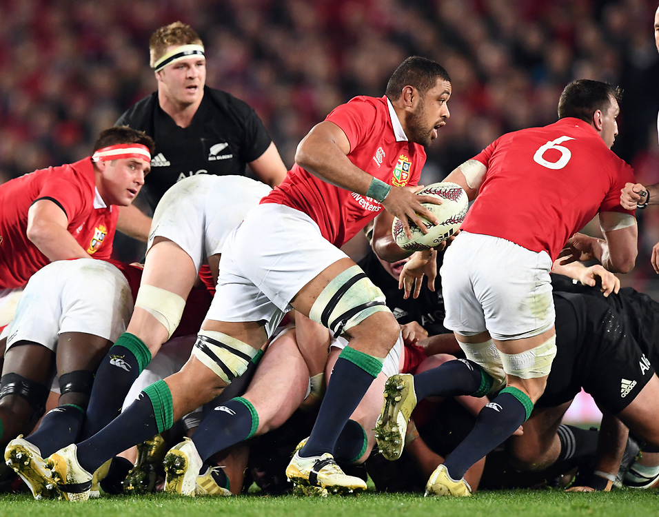 """Toby Faletau of the Lions breaks from the scrum against New Zealand in the third International rugby test match between the the New Zealand All Blacks and British and Irish Lions at Eden Park, Auckland, New Zealand, Saturday, July 08, 2017. Credit:SNPA / Ross Setford  **NO ARCHIVING"""""""