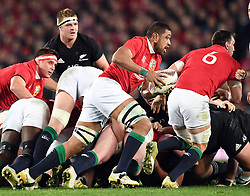 Toby Faletau of the Lions breaks from the scrum against New Zealand in the third International rugby test match between the the New Zealand All Blacks and British and Irish Lions at Eden Park, Auckland, New Zealand, Saturday, July 08, 2017. Credit:SNPA / Ross Setford  **NO ARCHIVING""