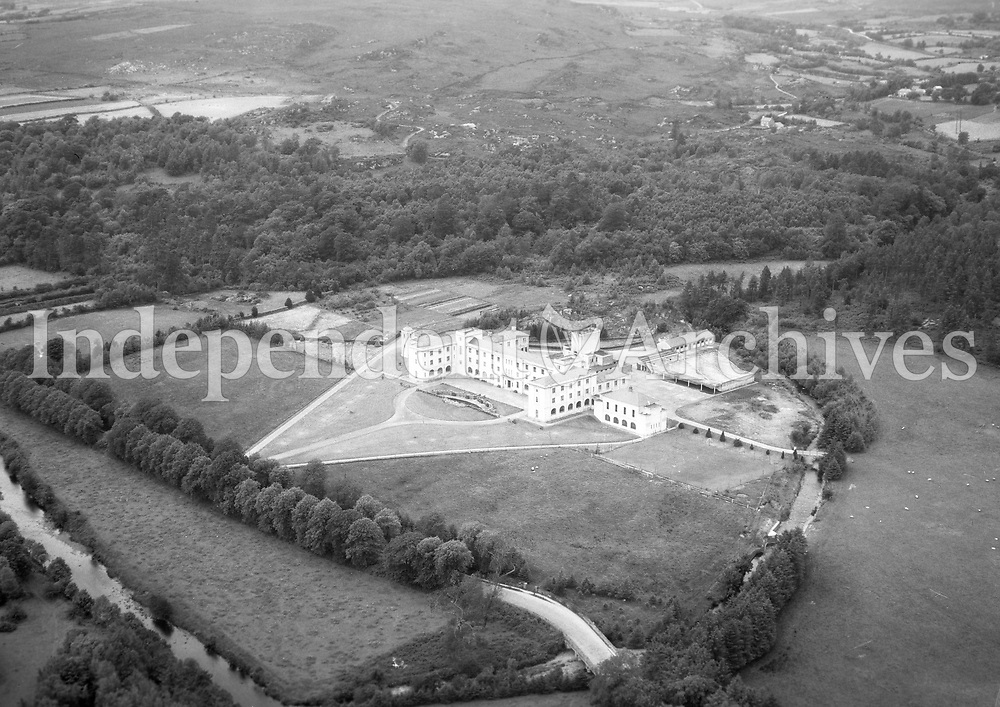A146 De La Salle College, Waterford.    (Part of the Independent Newspapers Ireland/NLI collection.)<br /> <br /> These aerial views of Ireland from the Morgan Collection were taken during the mid-1950's, comprising medium and low altitude black-and-white birds-eye views of places and events, many of which were commissioned by clients. From 1951 to 1958 a different aerial picture was published each Friday in the Irish Independent in a series called, 'Views from the Air'.The photographer was Alexander 'Monkey' Campbell Morgan (1919-1958). Born in London and part of the Royal Artillery Air Corps, on leaving the army he started Aerophotos in Ireland. He was killed when, on business, his plane crashed flying from Shannon.