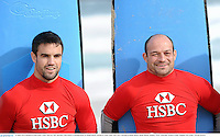 15 June 2013; British & Irish Lions Conor Murray, left, and Rory Best before a surfing lesson on Bondi Beach. British & Irish Lions Tour 2013, Surfing at Bondi Beach, Bondi Beach, Sydney, NSW, Australia. Picture credit: Stephen McCarthy / SPORTSFILE