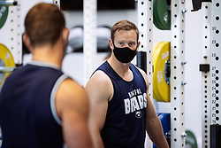 Chris Cook in action in the gym as Bristol Bears start to use their new almost completed Training centre - Rogan/JMP - 08/07/2020 - RUGBY UNION - Beggar Bush Lane - Bristol, England.