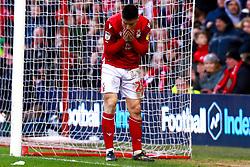 A dejected Joe Lolley of Nottingham Forest - Mandatory by-line: Ryan Crockett/JMP - 22/02/2020 - FOOTBALL - The City Ground - Nottingham, England - Nottingham Forest v Queens Park Rangers - Sky Bet Championship