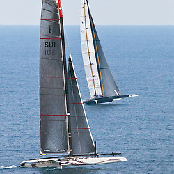 BMW Oracle wins the America's Cup<br /> Race2<br /> 2010 America's Cup, Valencia<br /> ©2010 Kaufmann/Forster go4image.com
