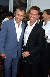 Left to right, PIERS ADAM and NICK CANDY at The Summer Ball in Berkeley Square , Londin W1 in aid of the Prince's Trust on 6th July 2006.<br />