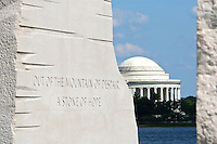 Martin Luther King, Jr. Memorial With View Of Thomas Jefferson Memorial in Washington DC