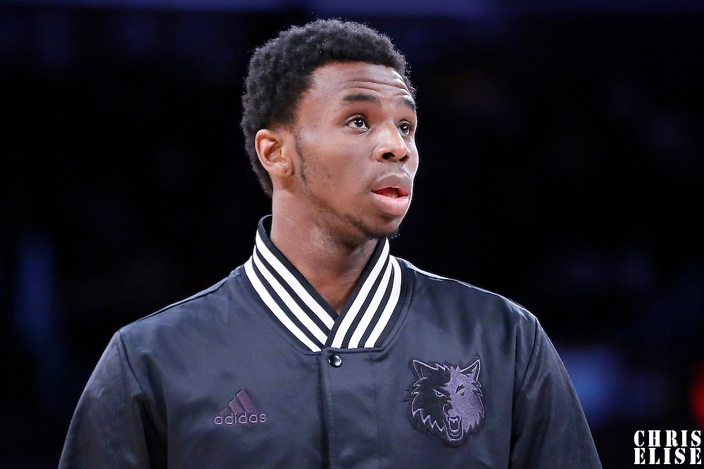 10 April 2014: Minnesota Timberwolves forward Andrew Wiggins (22) is seen prior to the Los Angeles Lakers 106-98 victory over the Minnesota Timberwolves, at the Staples Center, Los Angeles, California, USA.