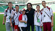 (C) Christian Karembeu - Special Olympics Ambassador  former French soccer player and current scout for Arsenal Football Club and Serbia SO team while medal ceremony during the 2013 Special Olympics European Unified Football Tournament in Warsaw, Poland.<br /> <br /> Poland, Warsaw, June 08, 2012<br /> <br /> Picture also available in RAW (NEF) or TIFF format on special request.<br /> <br /> For editorial use only. Any commercial or promotional use requires permission.<br /> <br /> <br /> Mandatory credit:<br /> Photo by © Adam Nurkiewicz / Mediasport