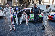 Roma 26 Ottobre 2013<br /> 1&deg; Rally Internazionale di RomaCapitale con partenza da piazza Bocca della Verit&agrave;, evento che riporta le corse su strada nella &ldquo;Citt&agrave; Eterna&rdquo; dopo ben nove lunghi anni di assenza.Piloti in attesa della partenza